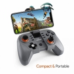 Amkette Evo Bluetooth Gamepad Go for Android Smartphones (Black-Grey)