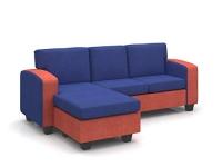 Forzza Pomona Three Seater Sofa (Blue)