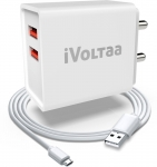 iVoltaa FuelPort 2.4 2.4 A Multiport Mobile Charger with Detachable Cable(White, Cable Included)