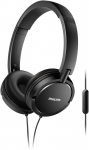 Philips SHL5005/00 Wired Headset with Mic(Black, On the Ear)