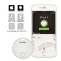 Portronics POR-130 iTrack 1 Smart Lost Item Tracker, Bluetooth Mini Tracking Device – Keys, Wallets, Luggage, Pet Finder (White)