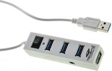 PremiumAV 4-Port USB Hub (White)