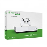 Xbox One S 1TB All-Digital Edition Console (Free Digital Games: Minecraft, Sea of Thieves, Forza Horizon 3) (Disc Free gaming)